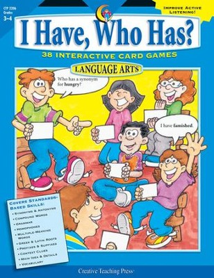 I Have, Who Has? Language Arts Grades 3-4   -