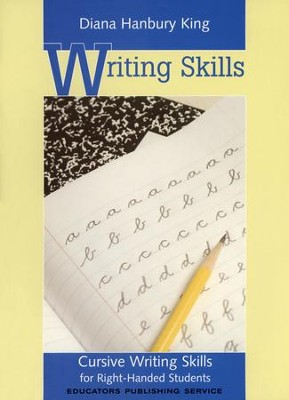 Cursive Writing Skills, Right-Handed Students   -