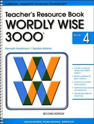 Wordly Wise 3000 Teacher Resource Book 4, 2nd Edition   -