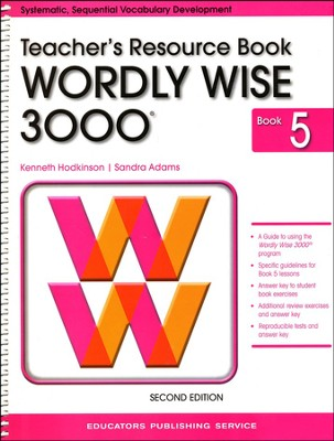Wordly Wise 3000 Teacher Resource Book 5, 2nd Edition   -