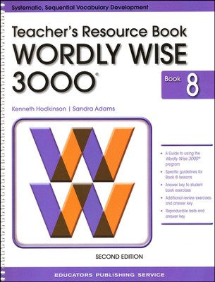 Wordly Wise 3000 Teacher Resource Book 8, 2nd Edition   -
