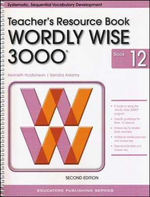 Wordly Wise 3000 Teacher Resource Book 12, 2nd Edition   -