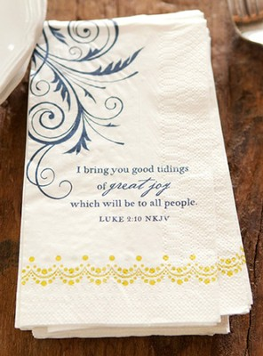 I Bring You Good Tidings Napkins, Pack of 16  -