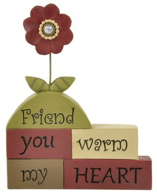 Friend, You Warm My Heart, Block Figure  -     By: Suzy Skoglund