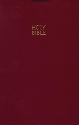 KJV Giant Print Reference Bible, Leatherflex, Burgundy  - Slightly Imperfect  -