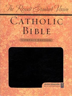 The Revised Standard Version Catholic Bible Compact Edition-Duradera, black with zipper  -