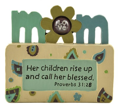 Mom, Her Children Rise Up and Call Her Blessed, Block Figure  -     By: Barbara Lloyd