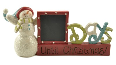 Snowman, Chalkboard Days Until Christmas Figurine  -