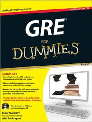 GRE For Dummies, Premier 7th Edition, with CD  -     By: Ron Woldoff