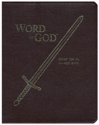 KJV Sword, Word Of God, Bonded Leather, Burgundy, Large Print  -