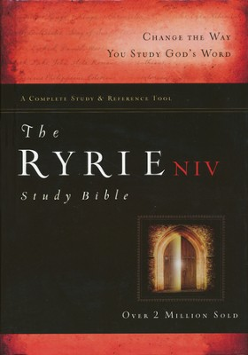 NIV Ryrie Study Bible Hard Cover, Thumb-Indexed  1984  -