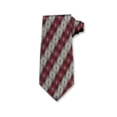 Gradient Cross Silk Tie   -