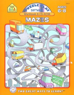 Puzzle Play Mazes Workbook and CD-ROM    -