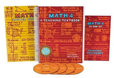 Teaching Textbooks Math 4 Complete Kit   -     By: Greg Sabouri, Shawn Sabouri