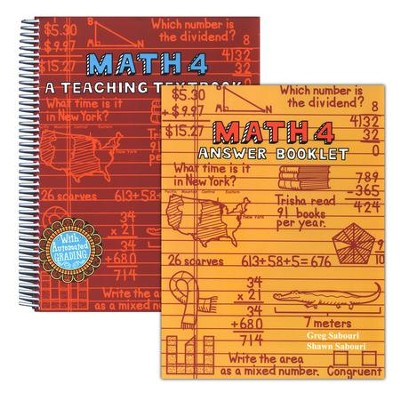 Math 4: Teaching Textbooks, Extra Workbook and Answer Key  -