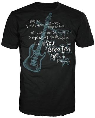 You Created Me Shirt, Black, Large  -