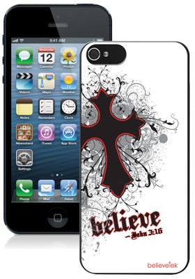 Cross iPhone 5 Case, White  -