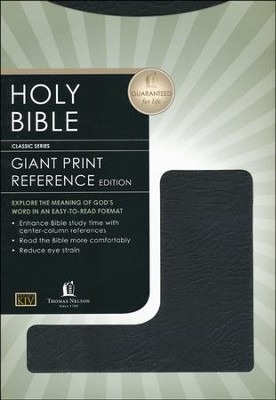 KJV Giant Print Center Column Reference Bible, Bonded leather, Black  -