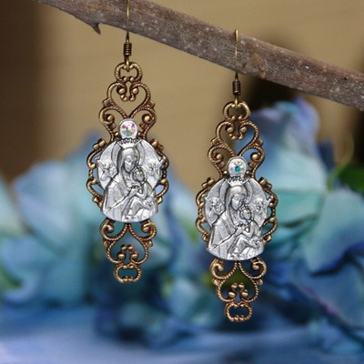 Our Lady of Fatima Earrings  -