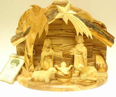 One Piece Nativity Set with Holy Family and Sheep  -