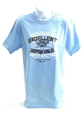 Excellent, Lovely, Pure, Admirable Shirt, Blue, Extra Large  -