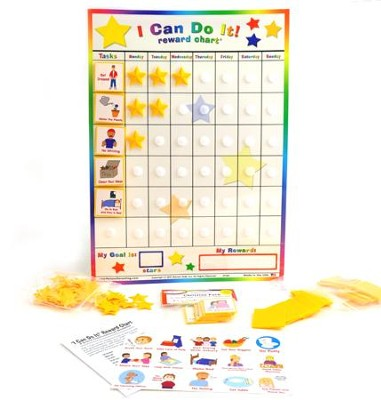 I Can Do It! Reward Chart with Christian Living Pack, Ages 3+  -