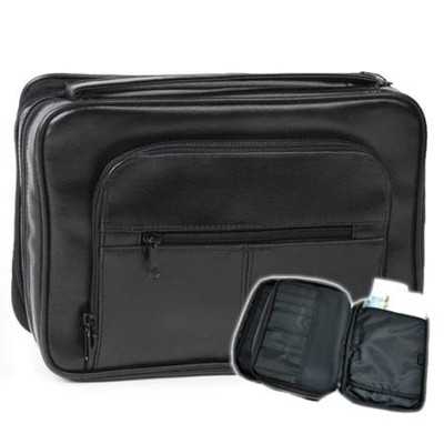 Deluxe Organizer with Study Kit Bible Cover, Black, Large  -