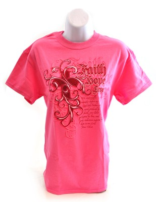 Ornate Faith Shirt, Pink, Medium  -