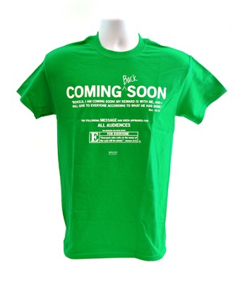 Coming Soon Shirt, Green, Medium  -