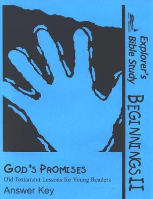 God's Promises Answer Key   -