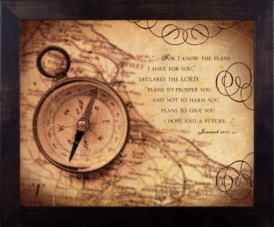 Good Plan, Jeremiah 29, Framed Print  -     By: Julie Chen