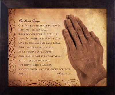 Lord's Prayer, Matthew 6, Framed Print  -     By: Julie Chen