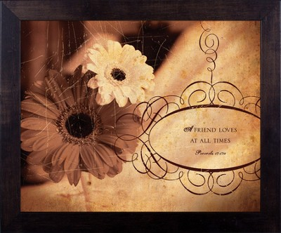 Friend, Proverbs 17, Framed Print  -     By: Julie Chen