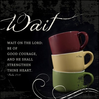 Wait on the Lord Mounted Print  -     By: Leona Lapp