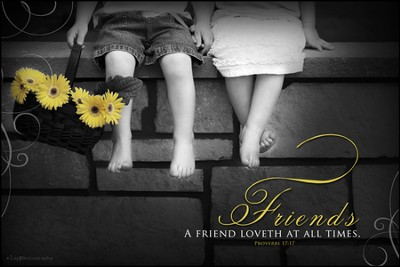 Friends, a Friend Loveth at All Times Mounted Print  -     By: Leona Lapp