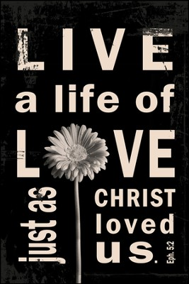 Live A Life of Love Mounted Print  -     By: Leona Lapp