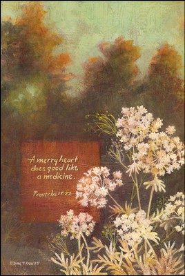A Merry Heart Does Good Like a Medicine Mounted Print  -     By: Diane Knowles