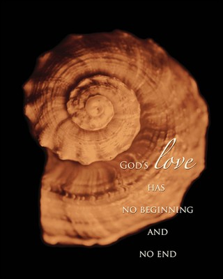 God's Love Has No Beginning and No End Mounted Print  -