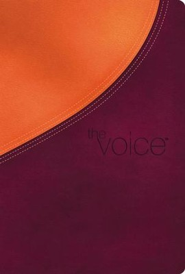 The Voice Full Bible, Leathersoft, Plum/Orange Shimmer  -