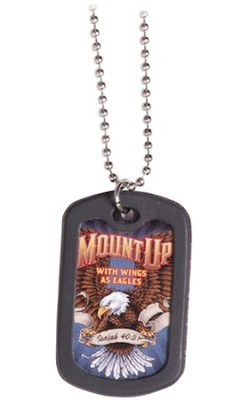 Dog Tag Necklace, Mount Up 3  -