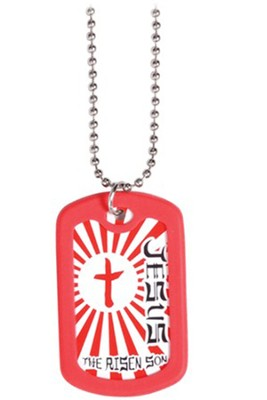 Dog Tag Necklace, Risen Son  -