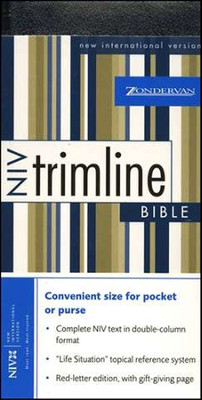 NIV Trimline Bible, Bonded leather, navy blue  1984  -
