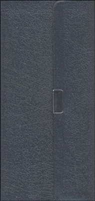 NIV Trimline Bible, Bonded leather, Navy blue w/snap flap  1984  -