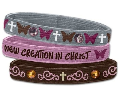 New Creation Stretch Bracelets, Set of 3   -