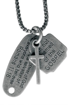 Not Ashamed of the Gospel Necklace  -