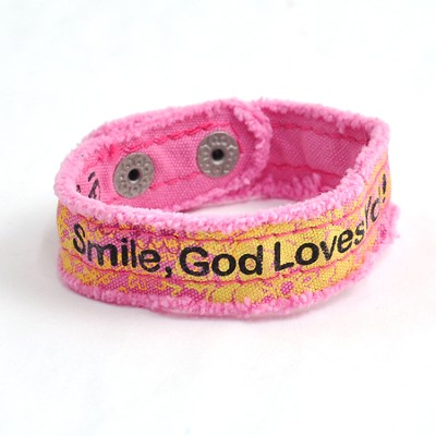 Smile, Canvas Bracelet  -