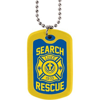On Patrol, Dog Tag Necklace  -