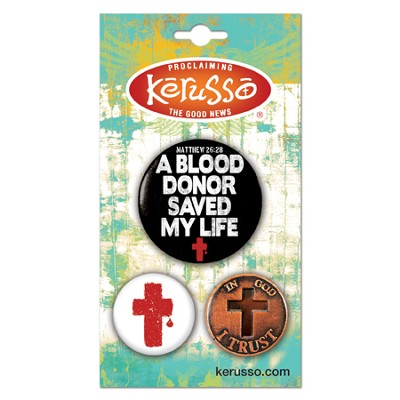 Blood Donor Button Set  -