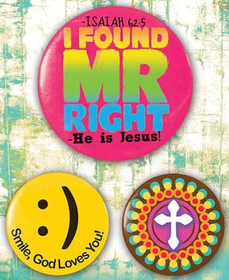 Mr. Right, Button Set   -