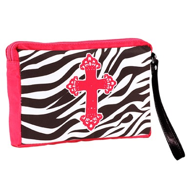 Zebra Cross Wristlet  -